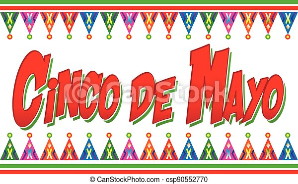 Colorful Cinco de Mayo Logo Graphic - csp90552770
