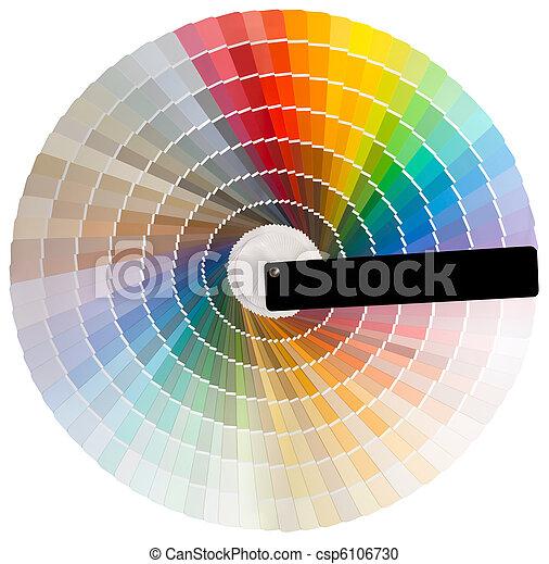 Colorful circle cutout - csp6106730