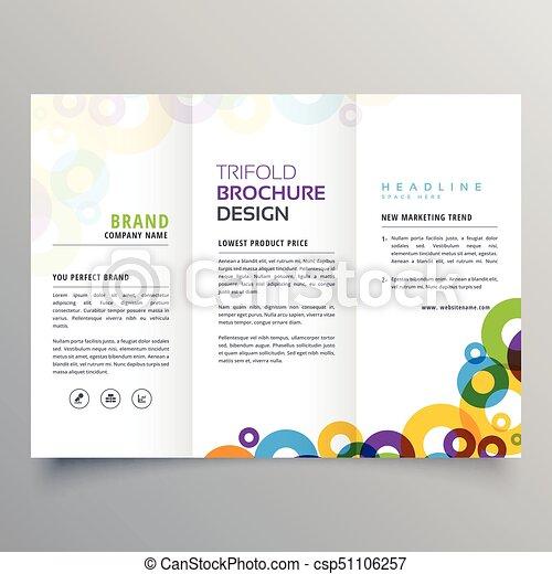 Colorful circles business tri fold brochure vector design template colorful circles business tri fold brochure vector design template wajeb Gallery