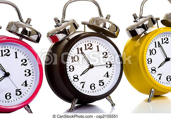 Colorful Clocks on White - csp2155551