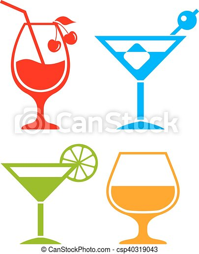 colorful cocktail icons set eps vector search clip art rh canstockphoto com cocktail clipart png cocktail clipart black and white