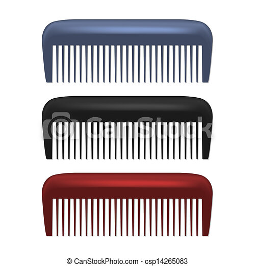 Colorful Combs isolated on white background - csp14265083