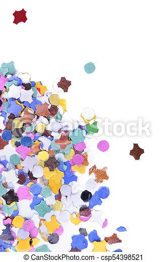colorful confetti on white background - csp54398521