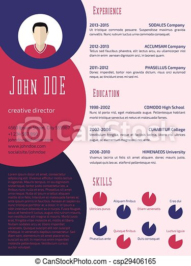 Colorful Cool Resume Cv Template Colorful Cool New Resume