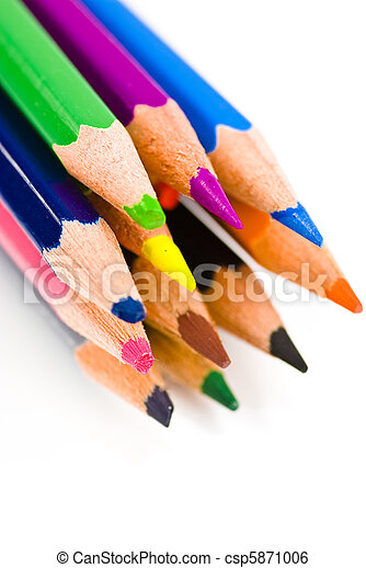 colorful crayons - csp5871006
