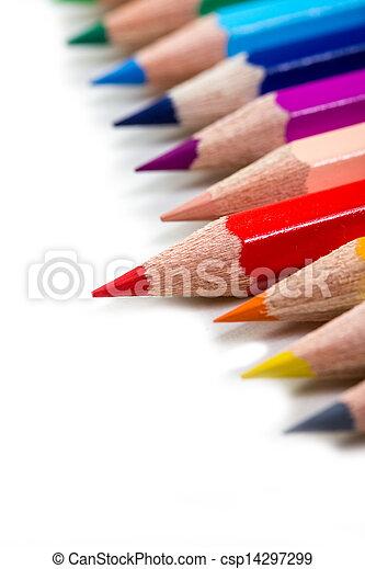 colorful crayons - csp14297299