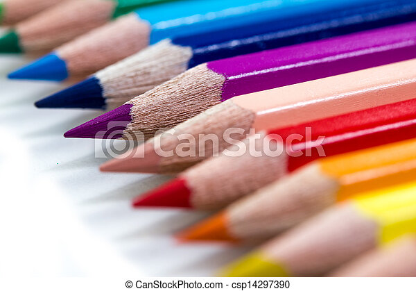 colorful crayons - csp14297390