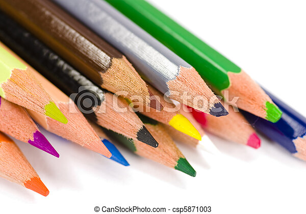 colorful crayons - csp5871003