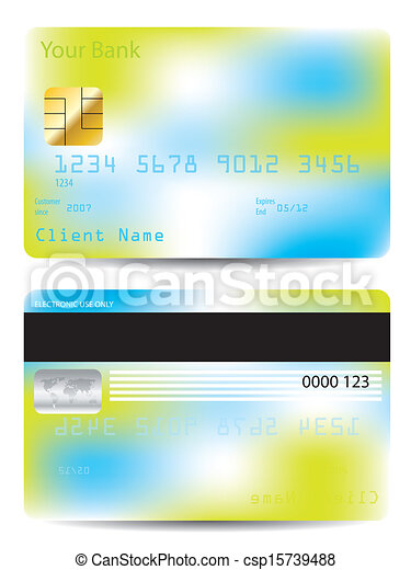 colorful credit card design template csp15739488