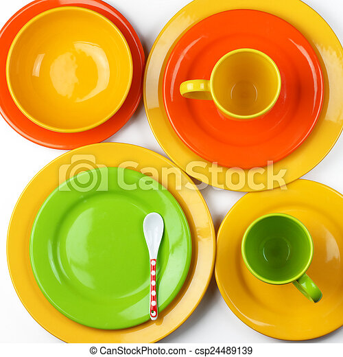 Colorful crockery - csp24489139