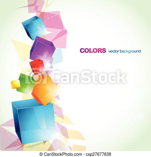 colorful cube abstract design - csp27677638