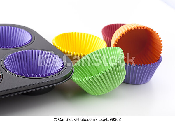 Colorful Cupcake Papers - csp4599362