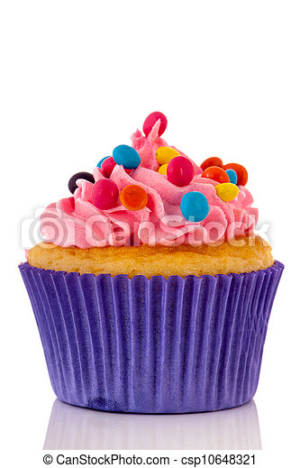 Colorful cupcake - csp10648321