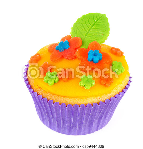 Colorful cupcake - csp9444809