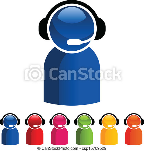 Colorful Customer Service Icons - csp15709529