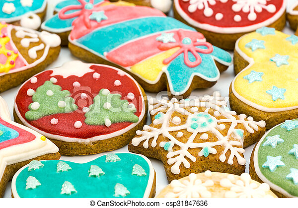 Colorful Decorated Christmas Cookies