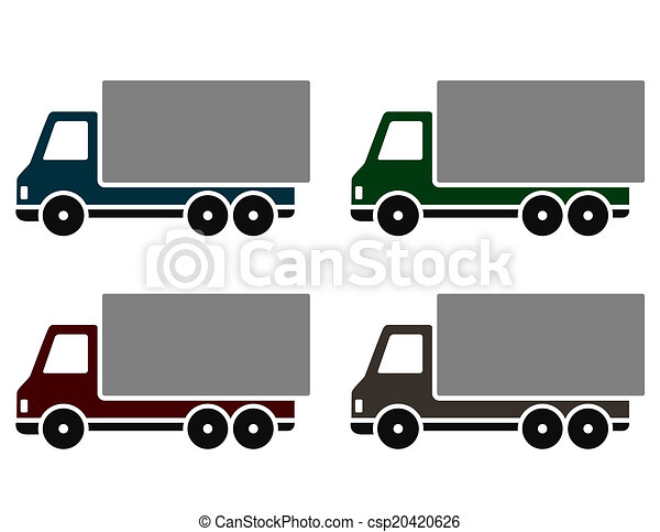 colorful delivery trucks - csp20420626