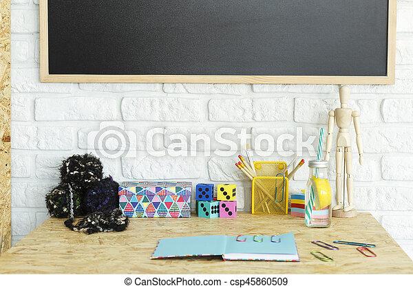 Colorful desk accessories - csp45860509