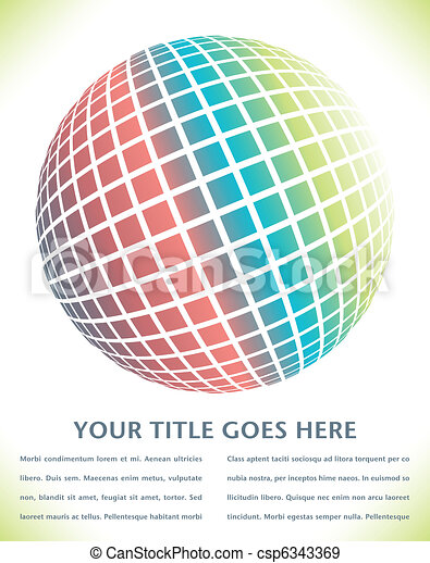 Colorful digital globe design. - csp6343369