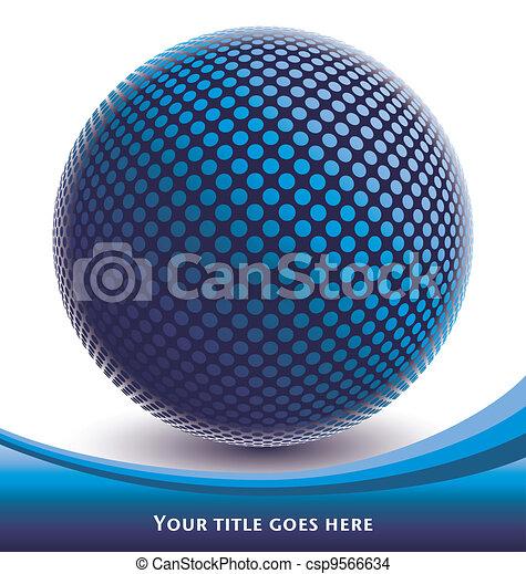 Colorful digital globe design. - csp9566634