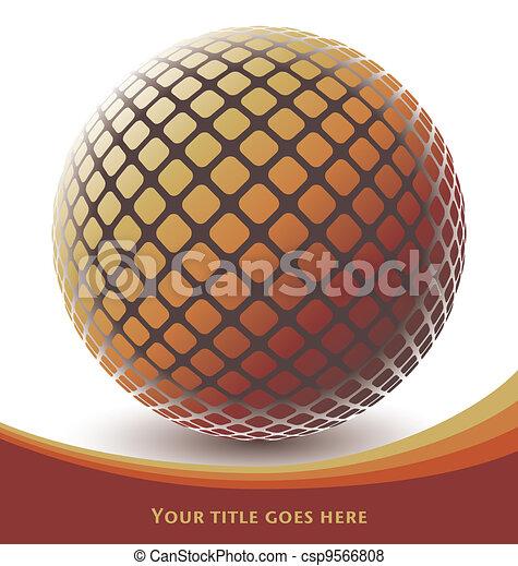 Colorful digital globe design. - csp9566808