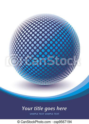 Colorful digital globe design. - csp9567194