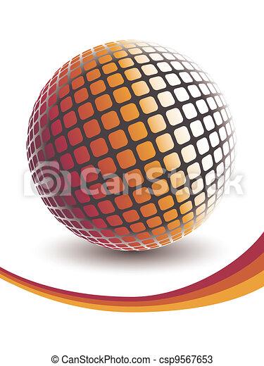 Colorful digital globe design. - csp9567653