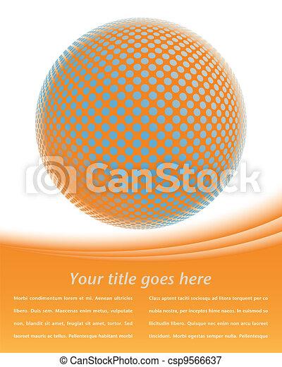 Colorful digital globe design. - csp9566637