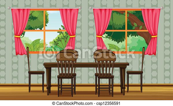 Elegant Colorful Dining Room   Csp12356591