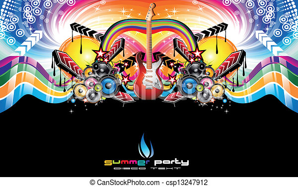 Colorful Discoteque Event Flyer - csp13247912