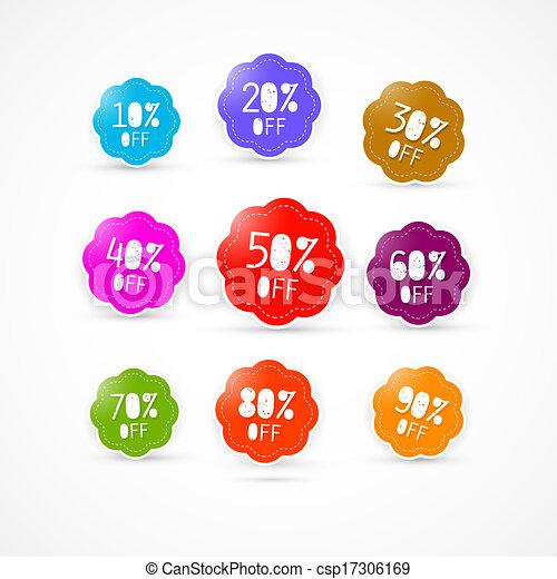 Colorful Discount Labels Set - csp17306169