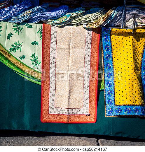 colorful dish towels - csp56214167