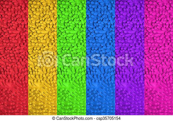 Colorful doormat texture - csp35705154