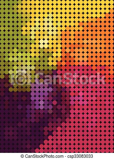 Colorful dot pattern abstract wallpaper - csp33083033