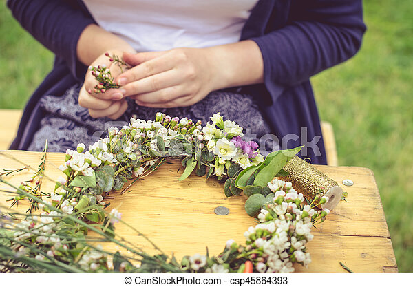 colorful dried flowers - csp45864393