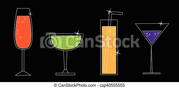 Colorful Drinks - csp40555555