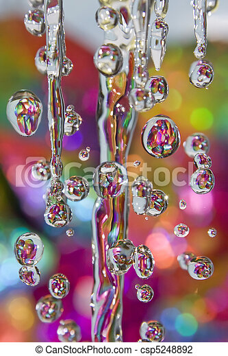 Colorful drops of rain  - csp5248892