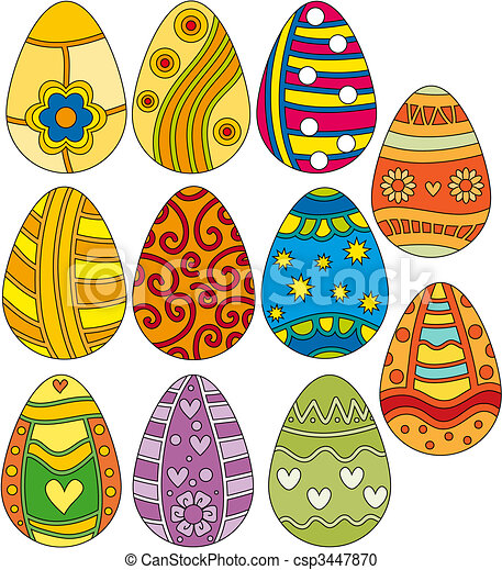 Colorful Easter Egg Collection - csp3447870