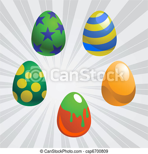 colorful easter eggs - csp6700809