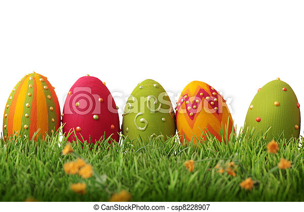 Colorful easter eggs  - csp8228907