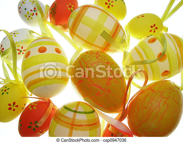 colorful easter eggs - csp0947036