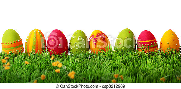 Colorful easter eggs - csp8212989