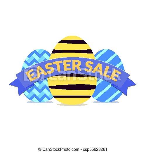 Colorful easter sale banner design - csp55623261