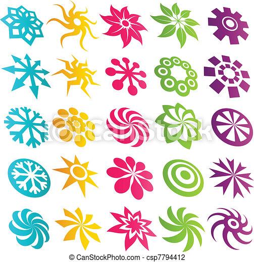 Colorful Element Logo Icons - csp7794412