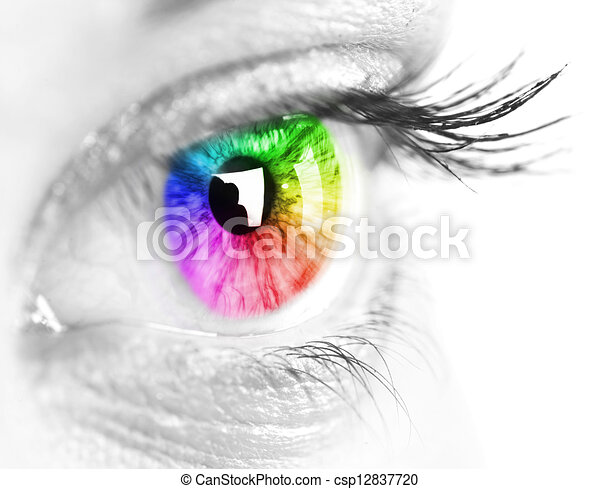 Colorful eye - csp12837720