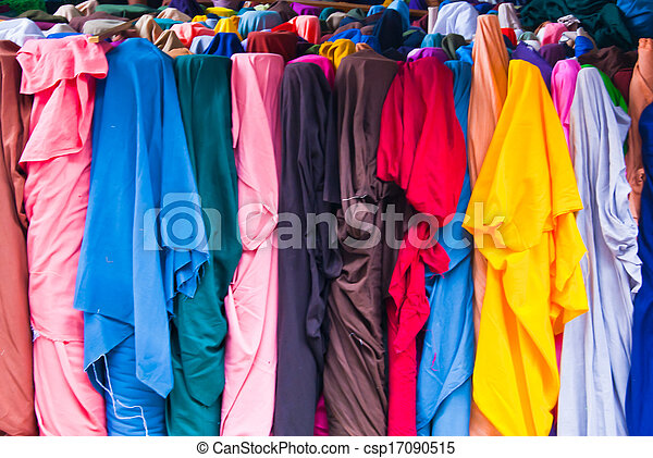 Colorful fabric rolls - csp17090515
