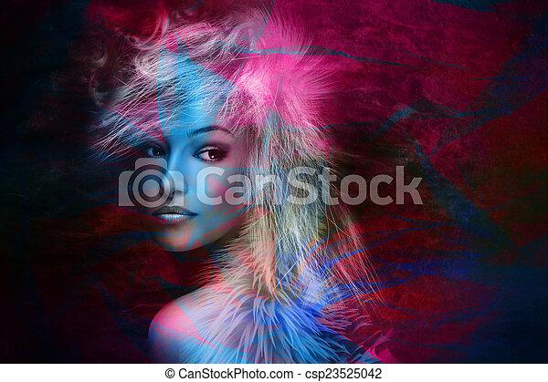 colorful fantasy beauty - csp23525042