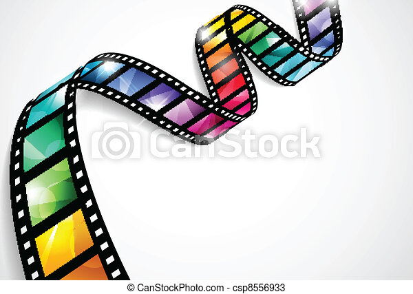 Colorful film strips - csp8556933