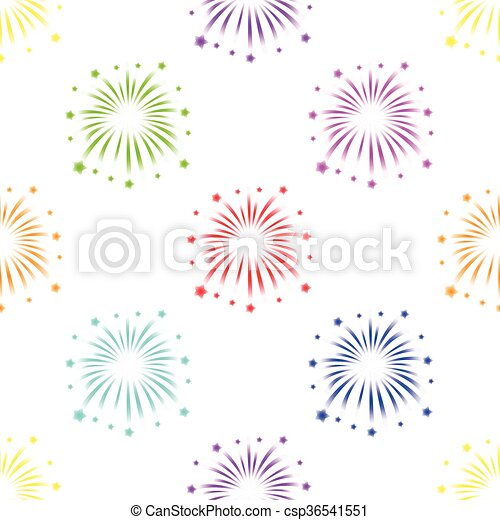 colorful fireworks - csp36541551
