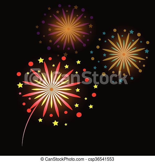 colorful fireworks - csp36541553